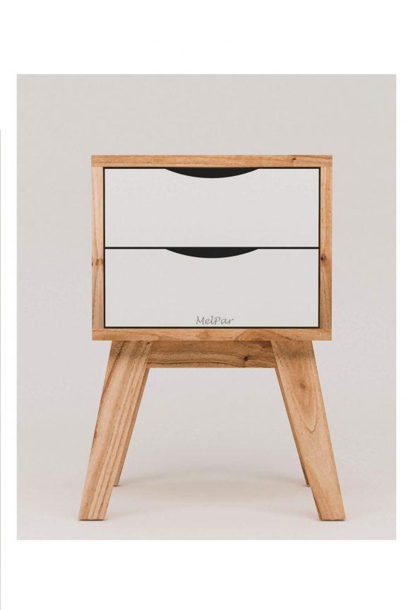 mesa de luz estilo escandinavo