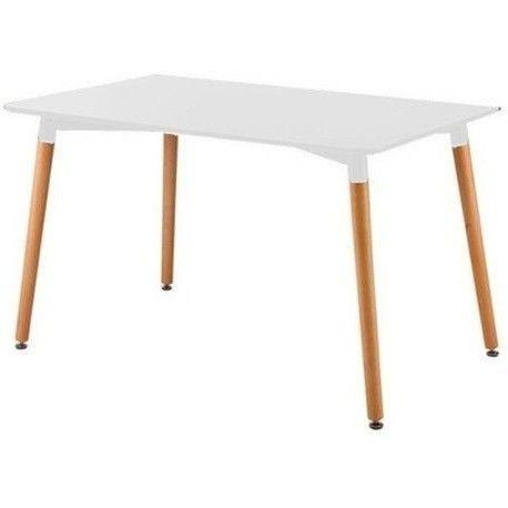 mesa laqueada blanca